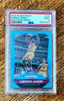 2015-16 Panini Prizm Light Blue Prizm #125 LeBron James Lakers #'d 101/199 PSA 9