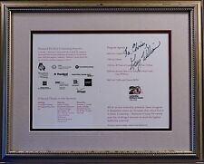 GARY WILLIAMS • Basketball Coach HOF Signed Framed Program Page • COA