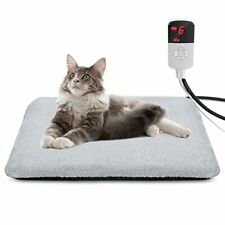 New listing Shu Ufanro Pet Heated Pad, Waterproof Electric Pet Heating Pad for Dogs Cats wit