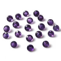 Great Lot of Natural Purple Amethyst 3X3 mm Round Cut Faceted Loose Gemstone