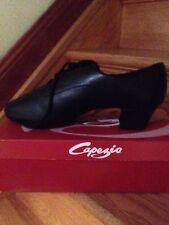 "NWB Men's Capezio Black  LATIN BALLROOM Shoes - 2"" CUBAN HEEL Size 12.5 W"