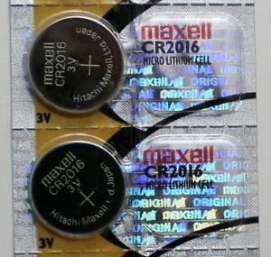 2PC MAXELL CR2016 Micro Lithium Cell Battery - Made in Japan