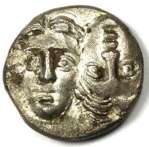 Moesia Istrus Greek AR Drachm Silver Coin 300 BC - NGC Certificate - AU
