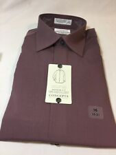 NIP Concepts By Claiborne 100% Cotton Long Sleeve Shirt Wrinkle Free 16x32/33