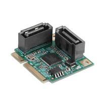 2 Ports Mini PCI-E PCI Express to SATA 3.0 Hard Drive Extension Card