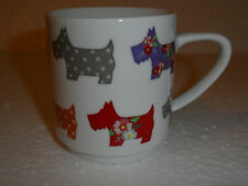 """Scotty Dogs"" Scottish Terriers Flower Patchwork Floral Polka Dots Mug"