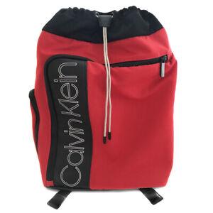 CALVIN KLEIN Red Tech Friendly Backpack Rucksack School Gym Travel Cycle Bag