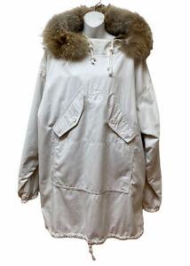 TENTH MOUNTAIN Dona Stuart Pullover Parka Jacket Coyote Fur Hood Size L Men's M