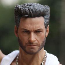 1/6 Scale Logan Wolverine Head Sculpt For 12'' Action Figure Body Hot Toys
