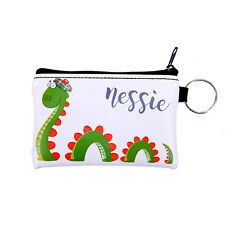 Scottish Cartoon Nessie with Hat Travel Keyring Small Card Coin Zipped Purse