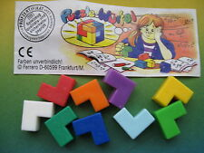WÜRFEL PUZZLE  - DADI COLORATI     + CARTINA 613 215  1998 kinder germania