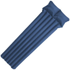 Highlander Inflatable Backpacking Airbed Travel Mattress With Pump & Pillow Blue