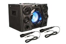 DSBX 110 Mobiles Soundsystem mit Bluetooth, Partylicht für Netz- und Akkubetrieb