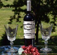 Vintage Wine Glasses, Set of 4, Vintage FOSTORIA Water Goblet Glasses