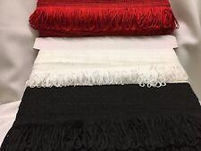 """2"""" inch 5cm Drop Black/Red/White Fringe Fringing Tassel looped Dress Trim Crafts"""