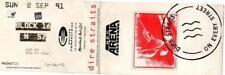 Dire Straits ticket NEC Arena Birmingham 08/09/91