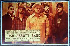 JOSH ABBOTT BAND 2014 Gig POSTER Portland Oregon Concert