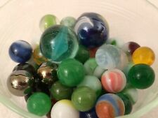 Mixed Lot of 50 Vintage Glass Marbles