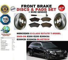 FOR MERCEDES E-CLASS ESTATE S212 09-ON FRONT BRAKE DISCS SET + PADS KIT + SENSOR