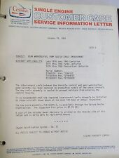 Cessna Original Single Engine Service Information Letters 1/19/81Thru 2/22/82