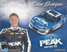 "2013 CLINT BOWYER ""PEAK MOTOR OIL #15"" NASCAR SPRINT CUP POSTCARD"