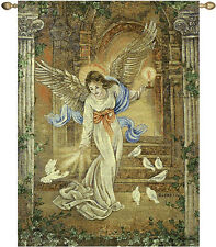 Angel of Light ~ Angels & Doves Tapestry Wall Hanging ~ Artist, Lena Liu