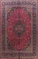 Vintage Kashmar Floral Area Rug Traditional Oriental Hand-Knotted Carpet 9x13 ft
