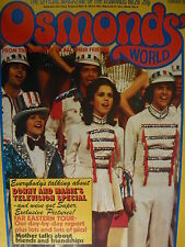 OSMONDS WORLD MAGAZINE - ISSUE 28 FEB 1976 (INCLUDES OSMONDS POSTER)