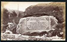 FINE ORIGINAL ANTIQUE PHOTO MEMORIAL STONE QUEEN VICTORIA VISIT SCOTLAND 1877