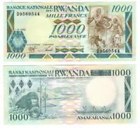 UNC RWANDA 1000 Francs (1988) P-21