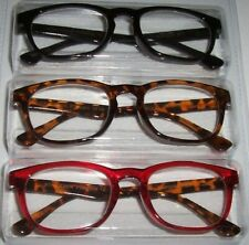 NEW Betsey Johnson 3 PAIR Reading Glasses Black/Brown Tortoise/RED Readers +1.50