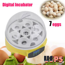 New Automatic Clear Digital Chicken Duck Bird 7 Egg Incubator Hatcher Househould