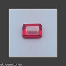 Lab Ruby AAA Grade, Emerald Cut 16x12mm.