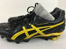 ASICS Lethal Stats Soccer Cleats Black Yellow Mens Size 10.5 Wattle P106L 9040