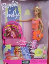 RARE ! NRFB BARBIE & SHELLY B2248 Dodo Lumière/bed light magic/schöne träume