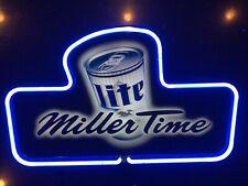 New listing Miller Lite, 'Miller Time', Backlit Neon Light, Bar Sign, Vintage 1998, Usa Made