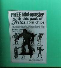 "VINTAGE MPC MONSTER   MUMMY  ""MAD MUMMY""  FRITOS+COPY OF AD"