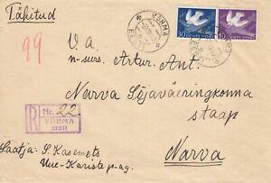 Estland, Estonia Brief von Vöhma nach Narva