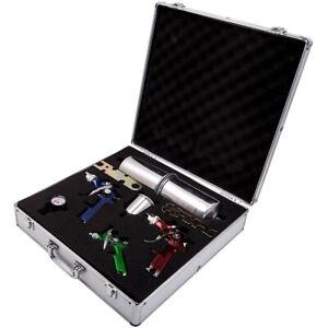 3 HVLP Air Spray Gun Kit Auto Paint Car Primer Basecoat Clearcoat with Case