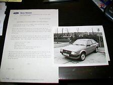 FORD Escort automatico per disabili Driver Press Release & Fotografia 1983
