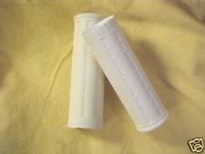 Harley,  Hummer, White  waffle pattern Grips, 1 1/8 inch both sides