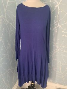Marks & Spencers Knitted Winter Dress Silk & Cashmere Mix Size 12 Once Worn