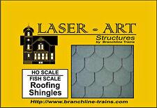 FISH SCALE STYLE SHINGLES HO Model Railroad Structure Unpainted Laser Kit LA907
