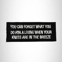 Don't forget to pull my hair Iron on Small Patch for Motorcycle Biker Vest SB997