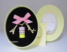 LADUREE Key Chain Macarons Effiel Tower Parisienne Citron Best for Gift New