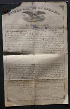 1884 Aurora,Illinois United States Citizenship Papers for Irish Hugh Jones-RARE!