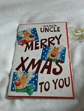Uncle Christmas Card BNIP - reindeers