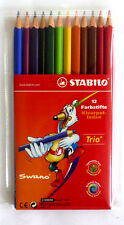 Stabilo Trio 12 Stück Farbstifte Buntstifte Swano Brillianten Farben