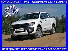 FORD RANGER PX1 FRONT PAIR CUSTOM MADE NEOPRENE SEAT COVERS (WETSUIT MATERIAL)