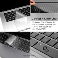 MacBook Pro 13 Case 2018 2017 2016 Release A1989 A1706 A1707 Thin Keyboard Cover